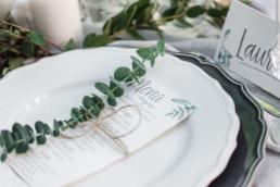 Inspiration für die Dekoration des Tisches auf einer Natural Wedding
