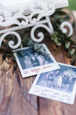 Polaroids von der Hochzeit von Olivia und David in München