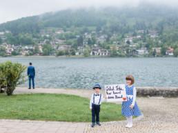 First Look Hochzeitsshooting bei einer Hochzeitsfeier am Tegernsee fotografiert von Hochzeitsfotografin Veronika Anna Fotografie aus Muenchen