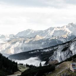 Bergpanorama Garmisch. aufgenommen von Hochzeitsfotografin Veronika Anna Fotografie.