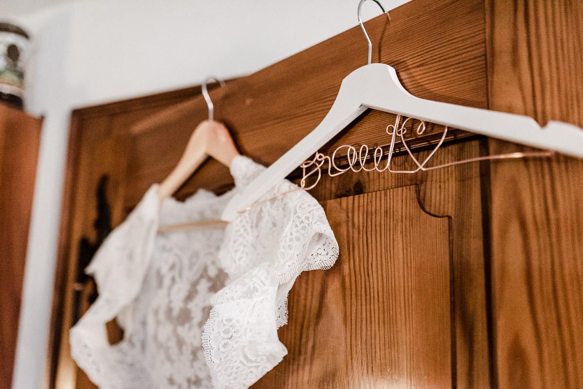 Kleiderbügel für die Braut