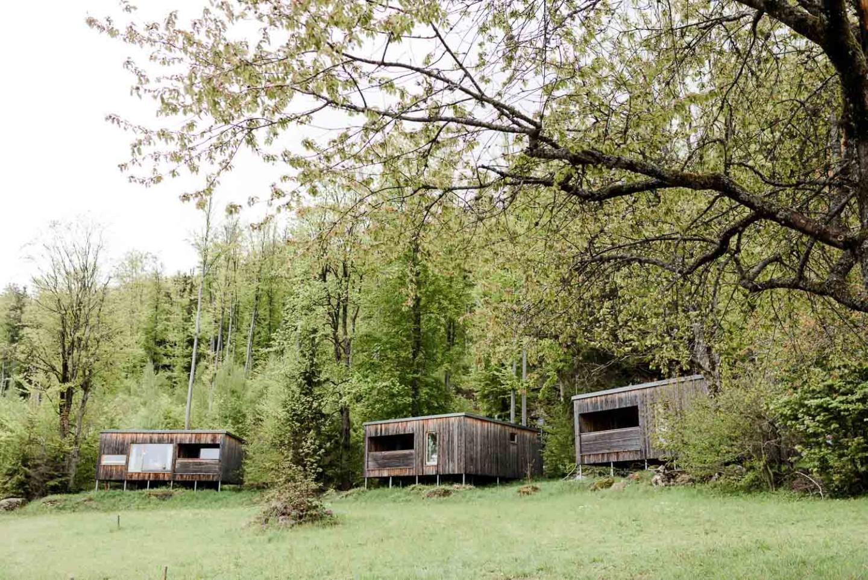 Holz Bungalows mitten in der Natur Gutsalm Harlachberg