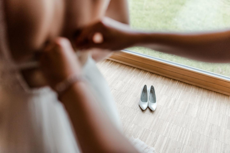 Vorbereitungen am Hochzeitsmorgen
