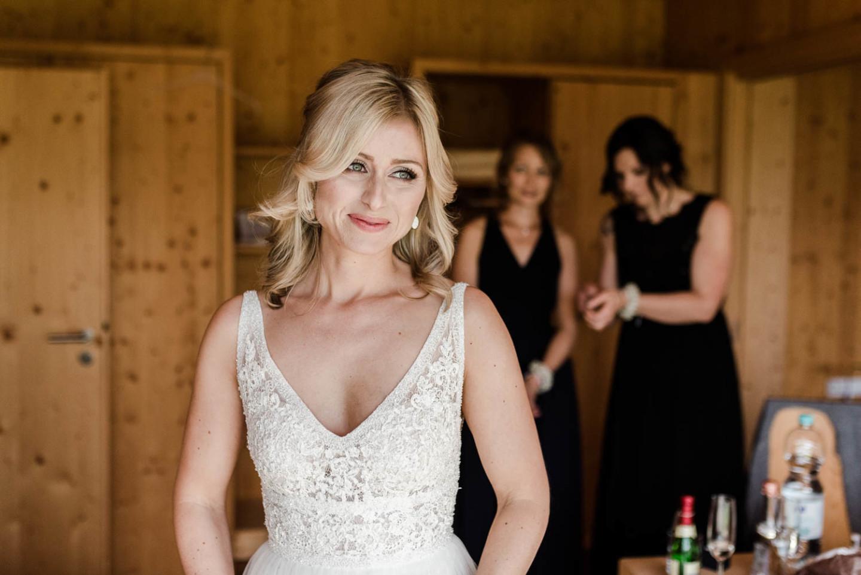 Die Braut am Hochzeitsmorgen