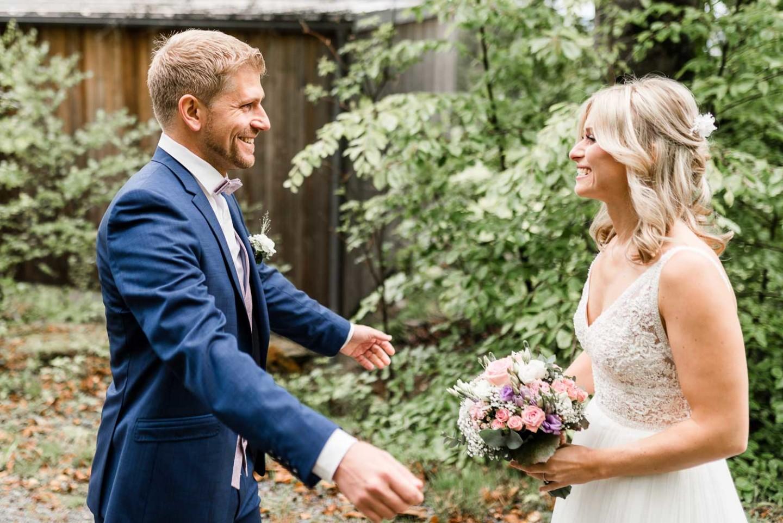 First Look - Das erste Aufeinandertreffen am Hochzeitstag