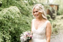 Eie strahlenden Braut am großen Tag