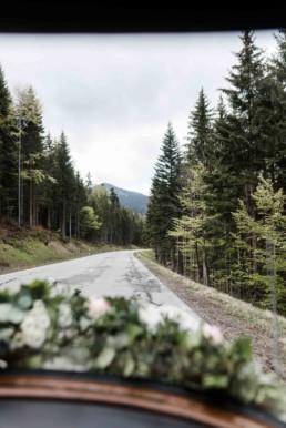 Die Fahrt durch den bayerischen Wald zur Trauung
