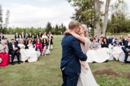 Erster Kuss als Mann und Frau