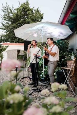 Livemusik am Hochzeitstag.
