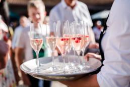 Welcome Drink zur Hochzeit am Hofgut Hafnerleiten