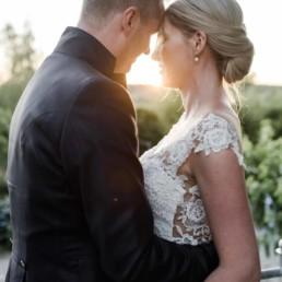 Hochzeitspaar Shooting bei Abendsonne