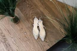Die Brautschuhe am Hochzeitsmorgen