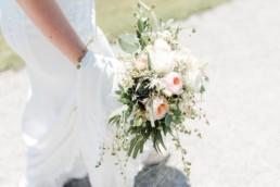 Brautstrauß romantisch mit Rosen