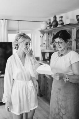 Ein Brief von der Braut für ihre Mutter