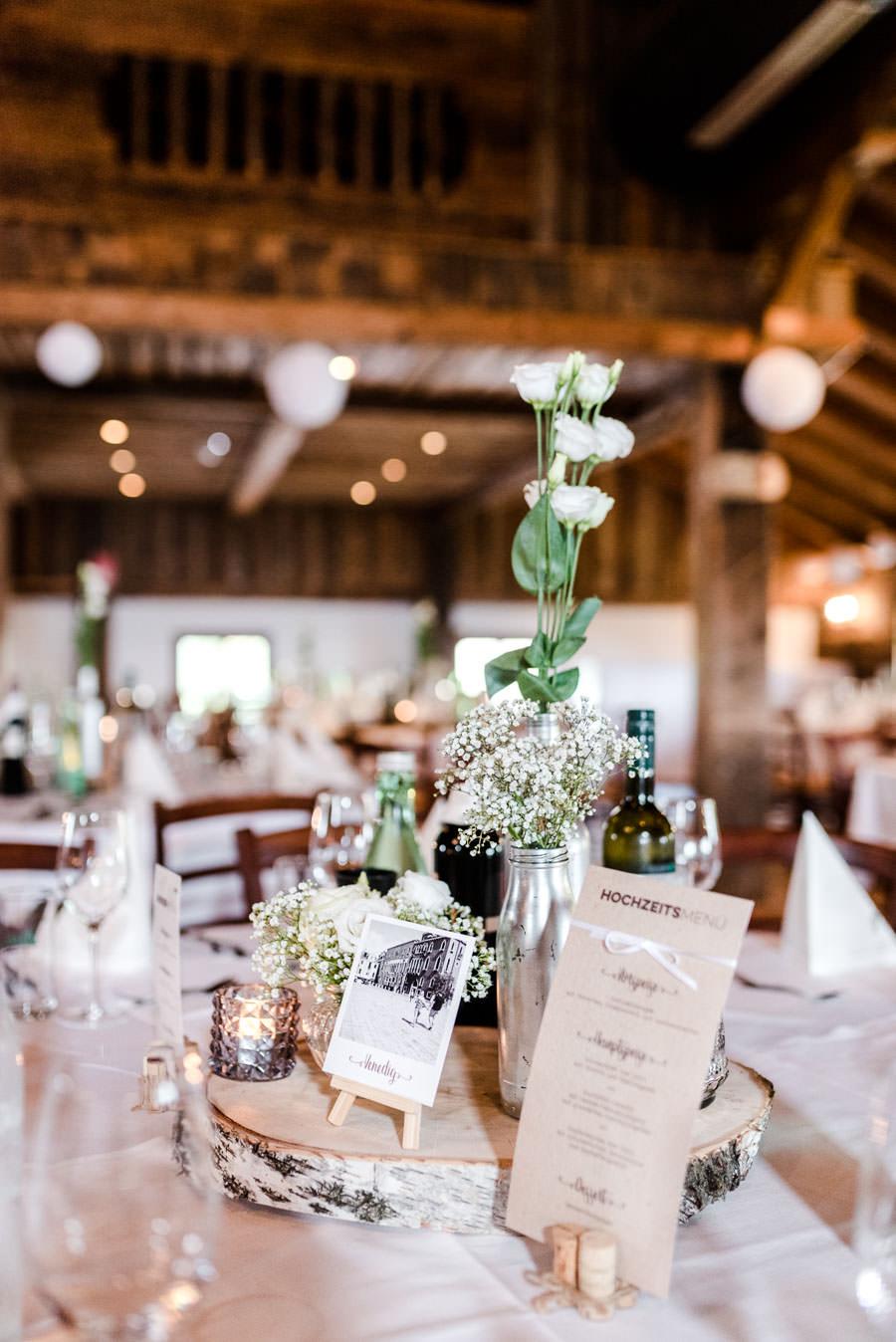 Wunderschöne Tischdekoration für Hochzeiten