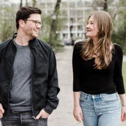 Pärchenfoto vom Paarshooting in München mit Veronika Anna Fotografie
