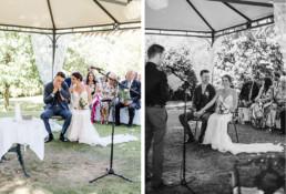 Brautpaar fotografiert bei freier Trauung in Oberösterreich Veronika Anna Fotografie