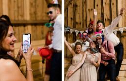 Gäste haben Spaß in der Fotobox am Wild-Berghof Buchet