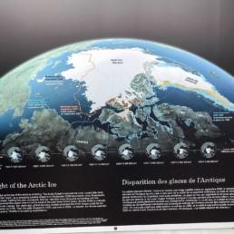 Informationstafel über den arktischen Gletscher aus dem Reisebericht Kanada 2019