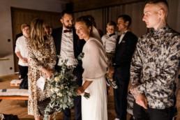 Braut und Bräutigam bei Hochzeit in Hengersberg.