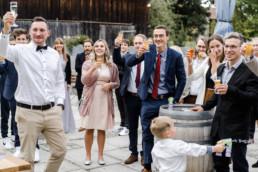 Sektempfang bei Hochzeit in Deggendorf.