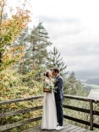 Schöne Natur bei einer Hochzeit in Deggendorf.